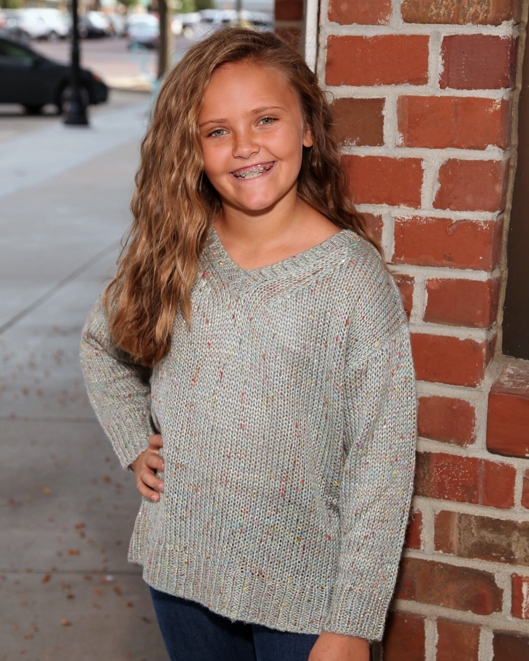 KIDS Multi Color Sequin Knit Sweater G3771