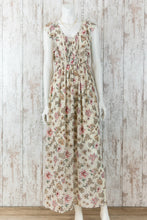 Floral Printed Maxi Dress w Ruffles 15638E