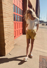 Hazel High Rise Tied Linen Shorts
