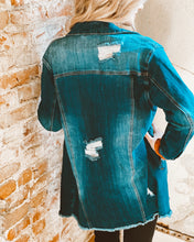 Oversized Distressed Long Jacket