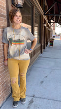 Live Each Day With Gratitude Bleached Vintage Boyfriend Tee LED-BL-VRT