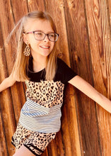 KIDS Triple The Fun Pocket Tee in Leopard K4925B
