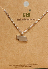 Nebraska Dainty Charm State Necklace