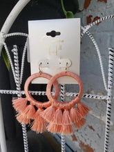 Helma Thread Wrapped Round Earrings w Tassels E16735