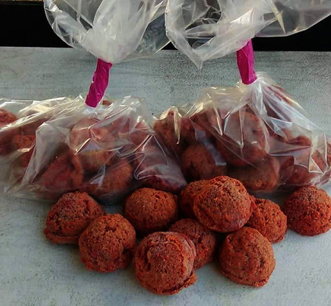 15 Beef, Goat and Lamb blend meat balls. 2.5oz each