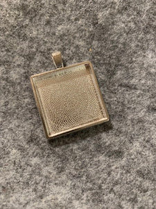 Square Necklace Blank (silver)