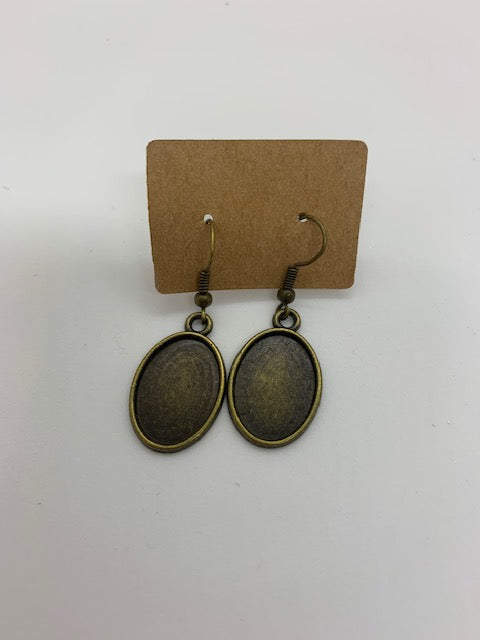 Oval Dangle Earring Blanks