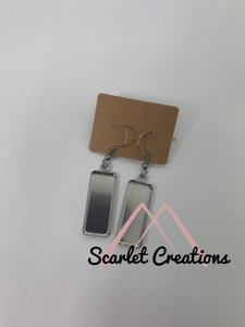 Rectangle Earring Blanks with Hooks
