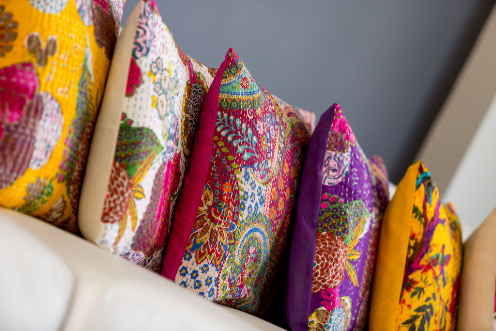 How to reinvigorate Kantha cushion covers