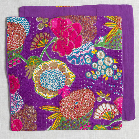 100% Cotton Cushion Covers from Jaipur-Purple