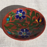 Hand-painted Trinket/Soap Dish from Jaipur: Brick colour - Exotic Homewares
