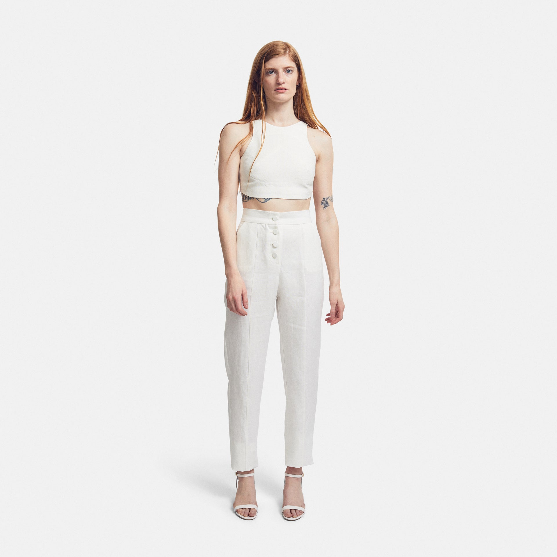 Top Cropped Linen