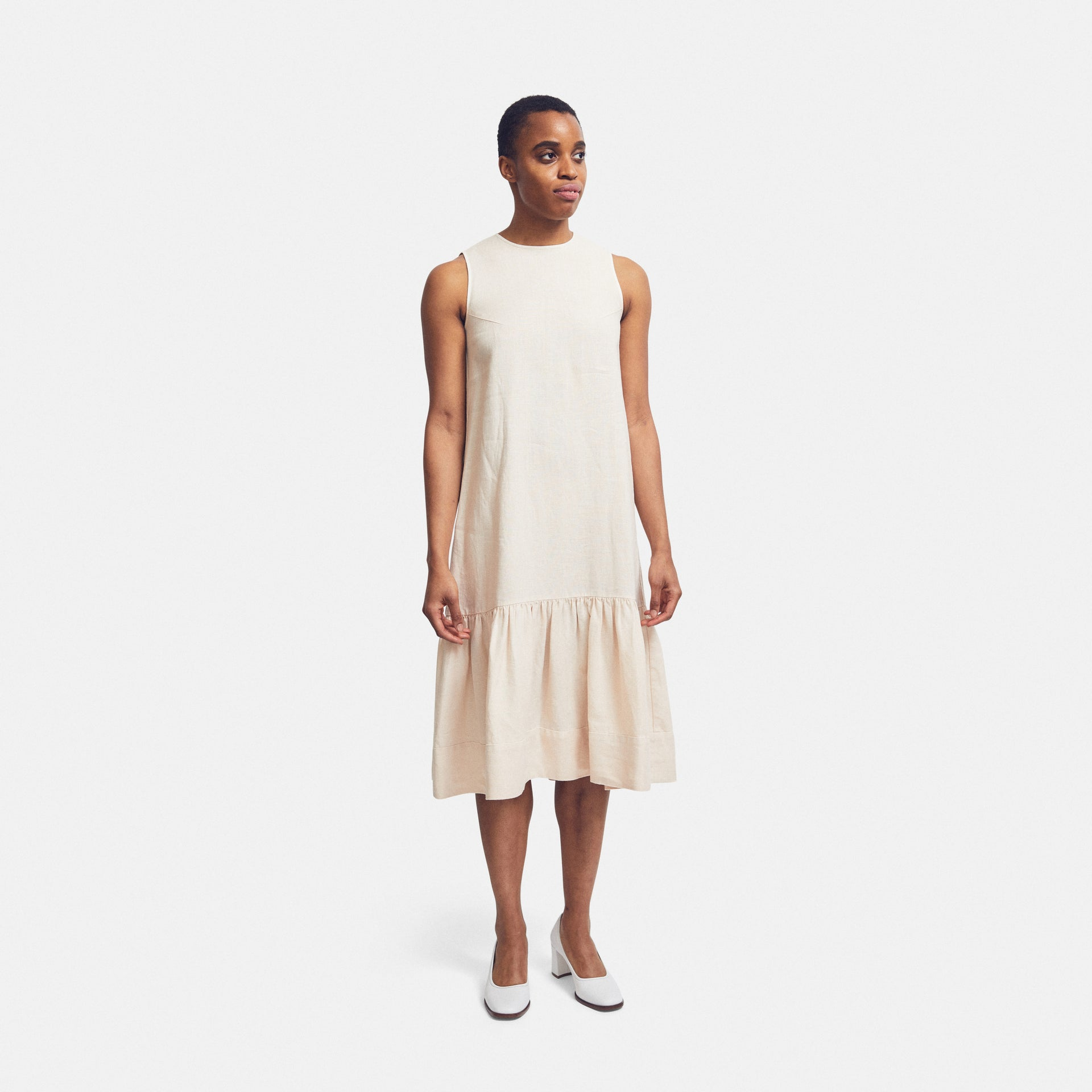 Dress Ruffle Linen