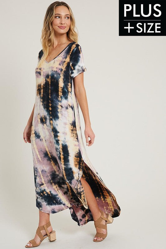 Tie Dye Maxi (PLUS) - Adorn Boutique in Mitchell