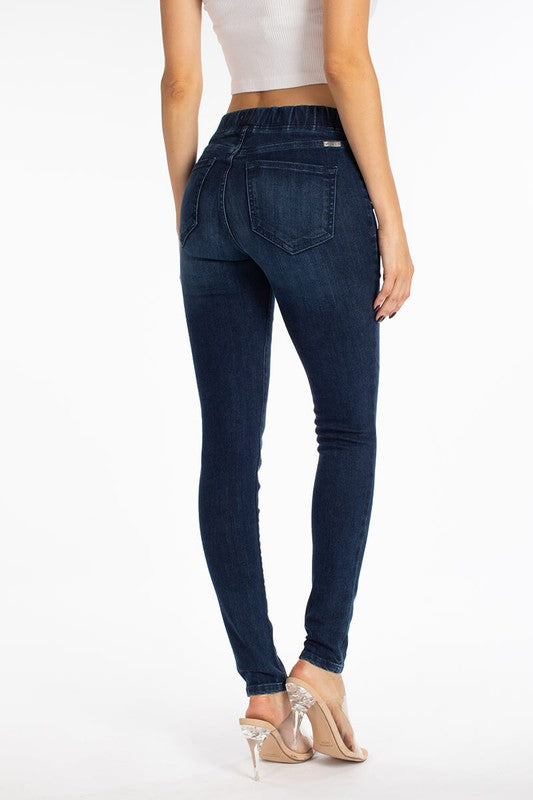 Elastic Waist Band Skinnies - Adorn Boutique in Mitchell