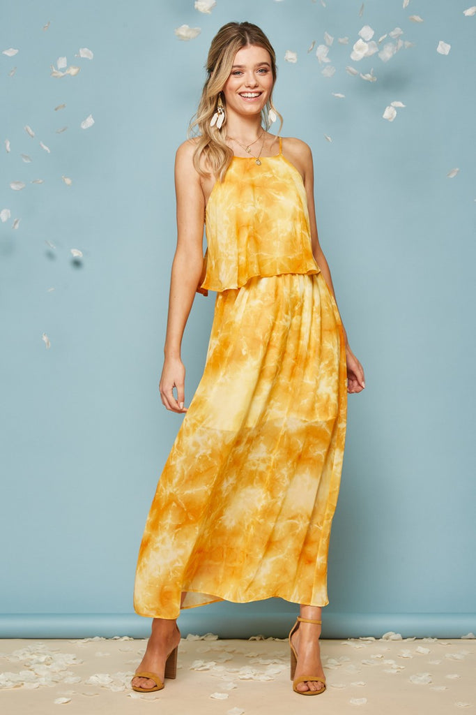 Chiffon halter maxi - Adorn Boutique in Mitchell