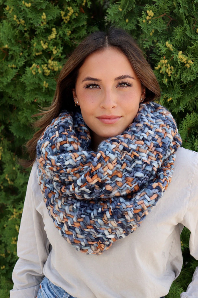 Loom Woven Infinity Scarf - Adorn Boutique in Mitchell