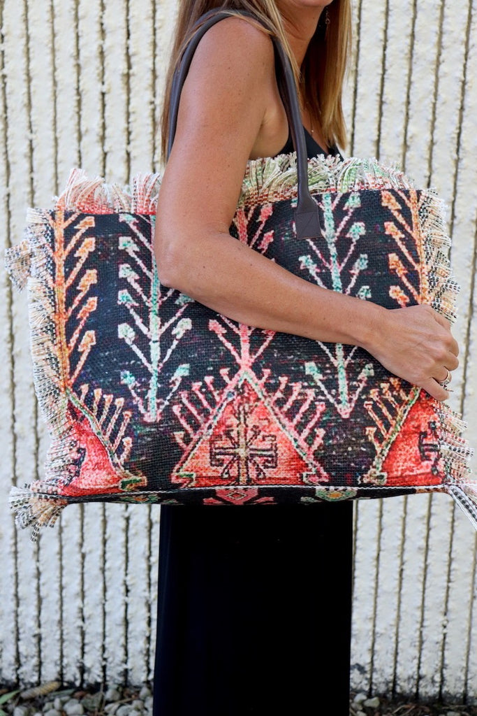 Aztec Carpte Bag - Adorn Boutique in Mitchell