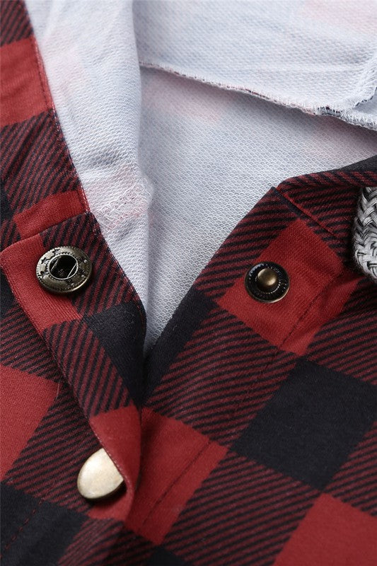 (PLUS available) Buffalo Plaid Pullover - Adorn Boutique in Mitchell