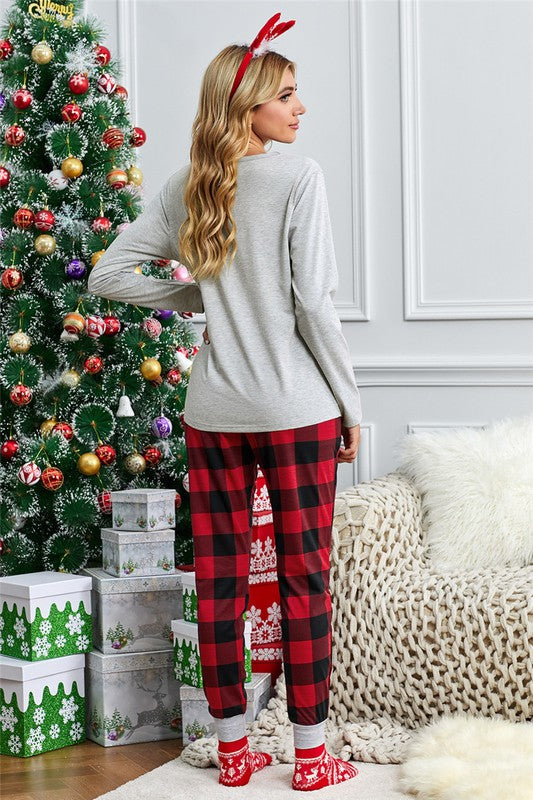(PLUS Available) Buffalo Plaid Lounge Pants - Adorn Boutique in Mitchell