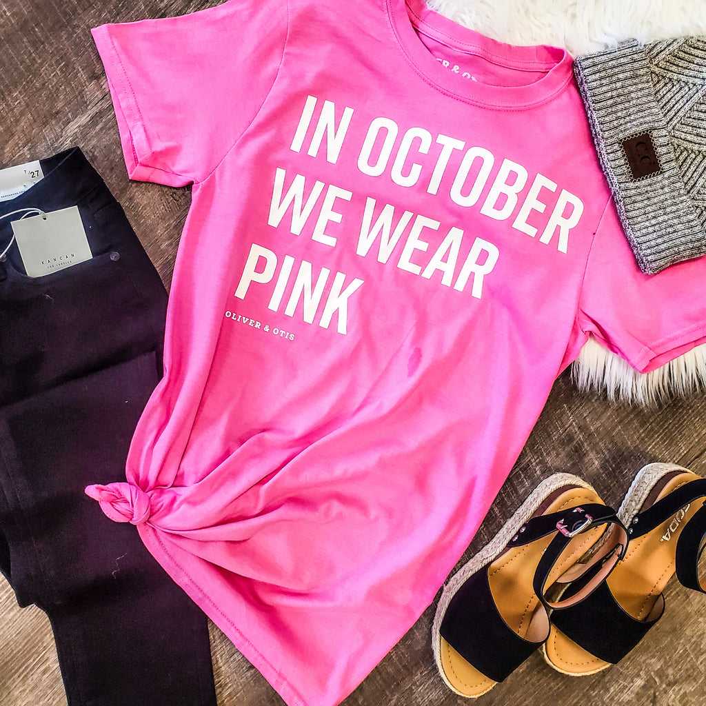 Breast Cancer Awareness Fundraiser tee - Adorn Boutique in Mitchell