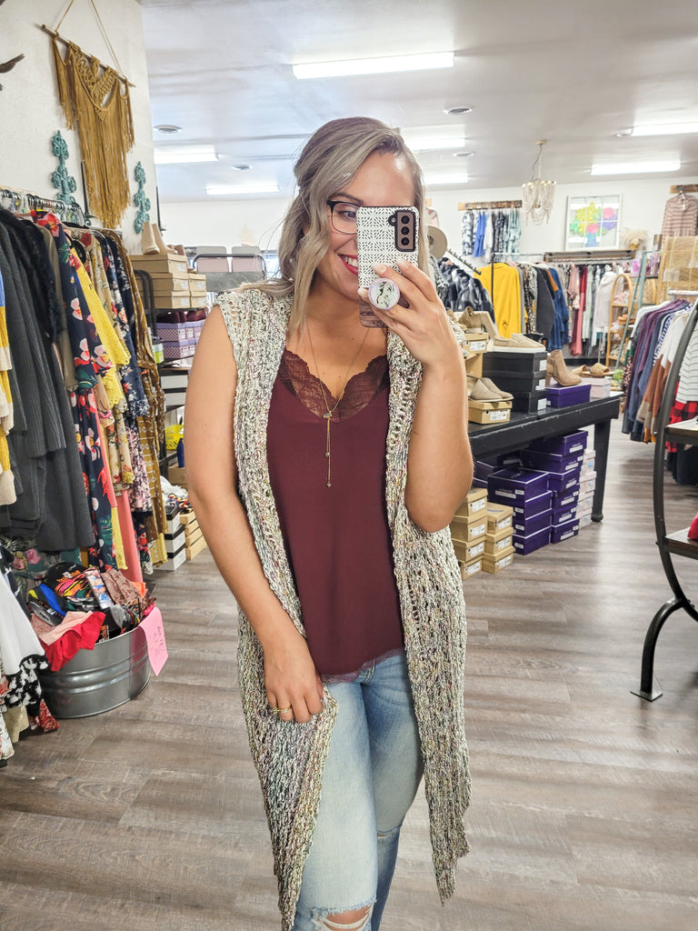 Rainbow Crocheted Cardigan - Adorn Boutique in Mitchell