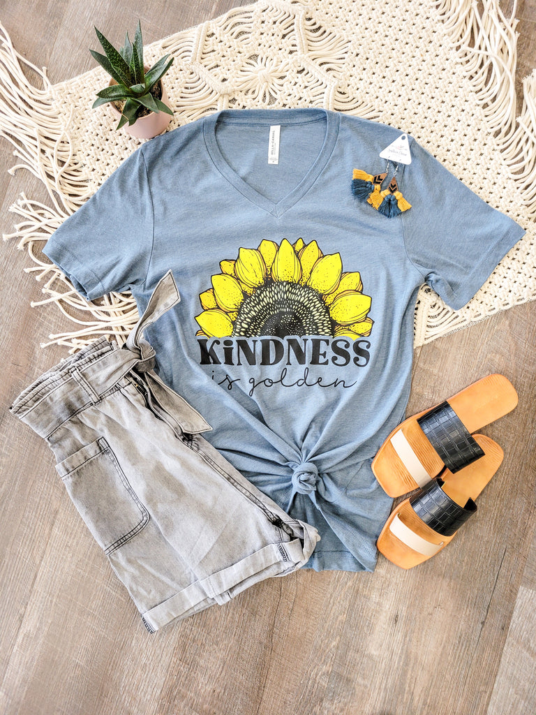 S-3X) Kindness is golden Graphic Tee - Adorn Boutique in Mitchell