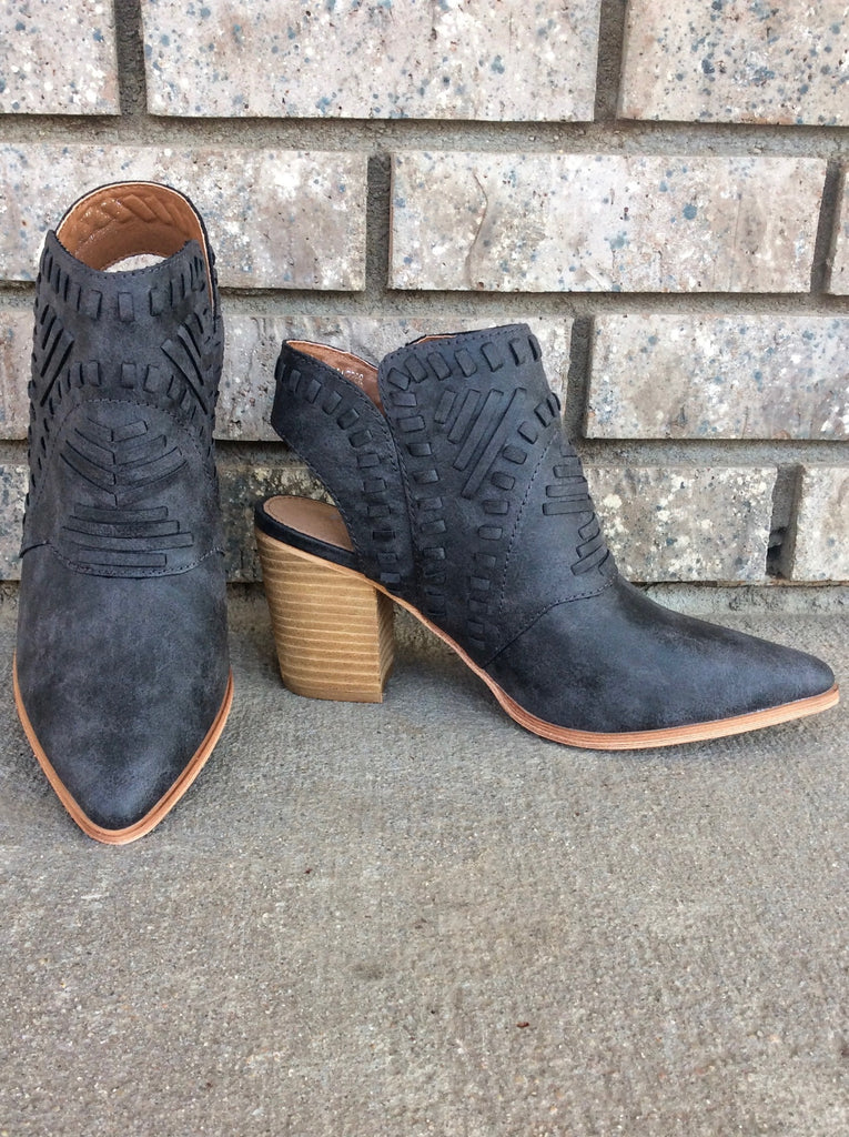 Woven Suede Bootie - Adorn Boutique in Mitchell