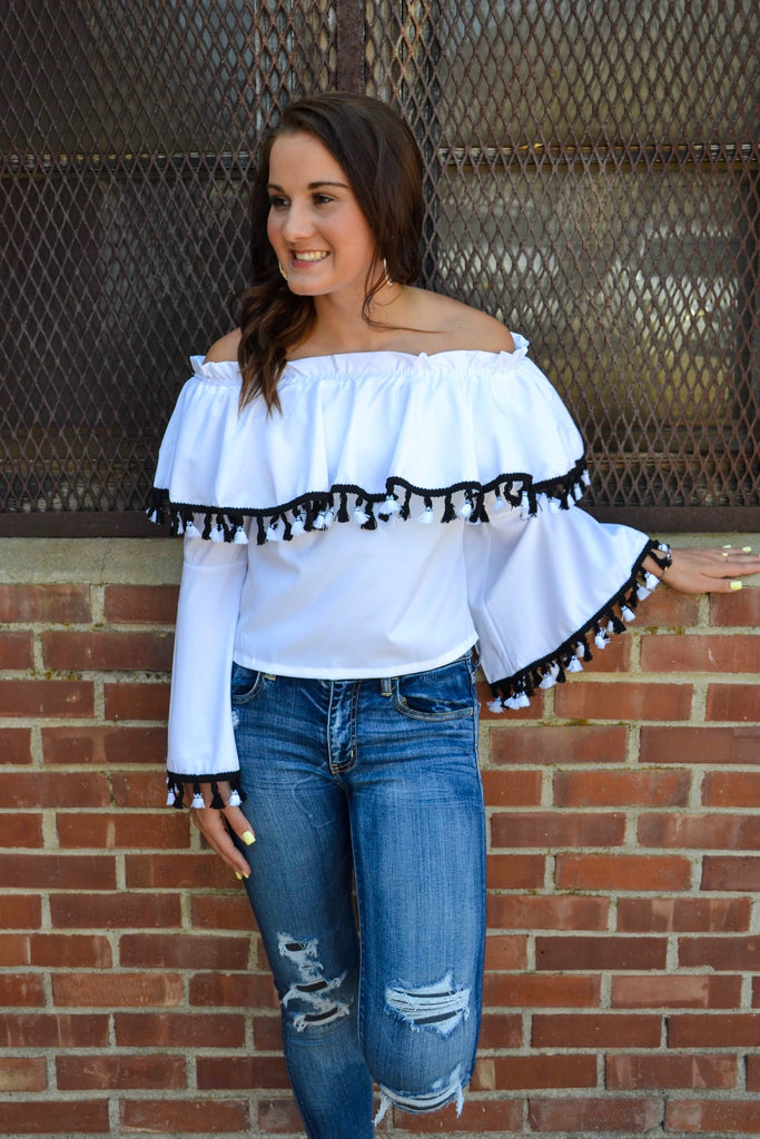 Off Shoulder Bell Sleeve - Adorn Boutique in Mitchell