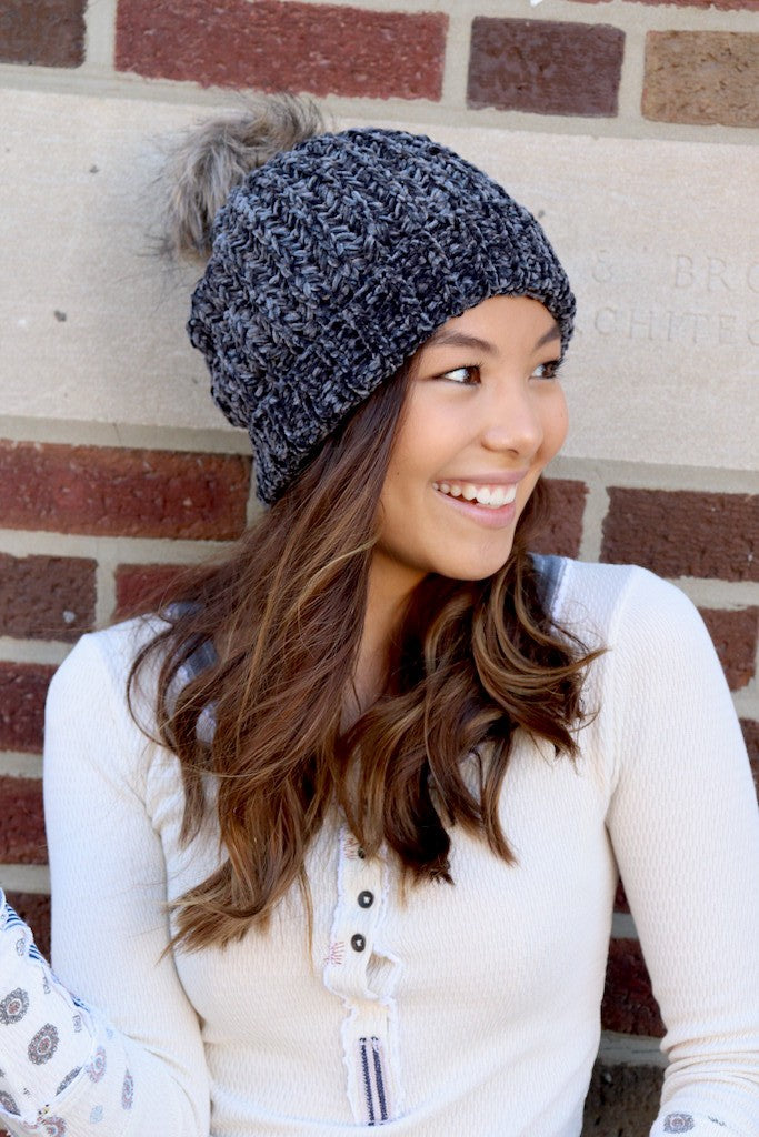 """Let it Snow"" Stocking Hat (MORE COLORS) - Adorn Boutique in Mitchell"