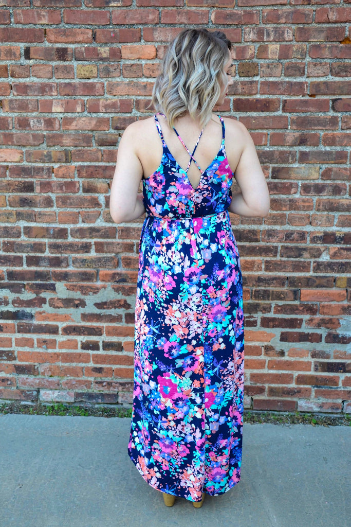 Double strap floral maxi - Adorn Boutique in Mitchell