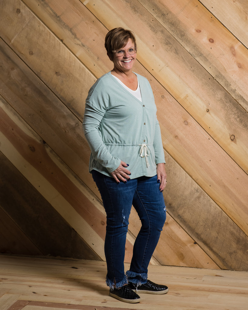 Tie Waist Knit Cardigan - Adorn Boutique in Mitchell