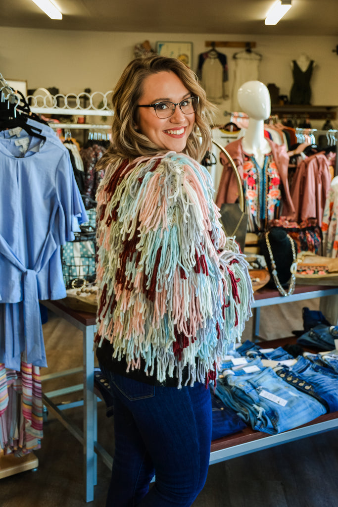 Shag Cardigan Jacket - Adorn Boutique in Mitchell