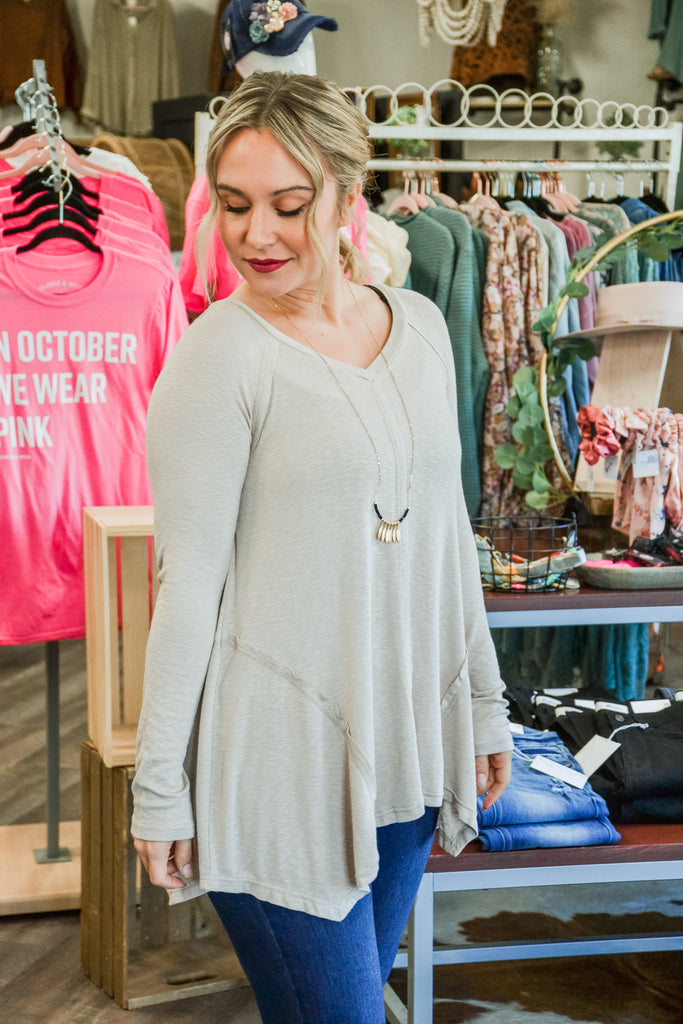 Shark Bite Top - Adorn Boutique in Mitchell
