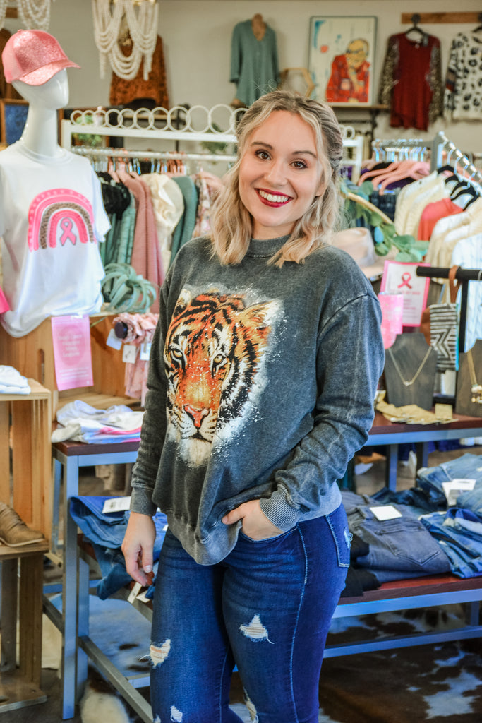 Tiger Face Crew Neck