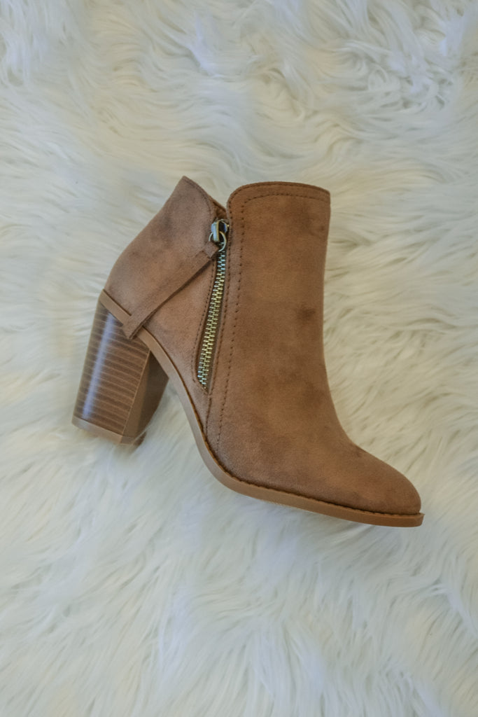 Fall Bootie - Dark Taupe - Adorn Boutique in Mitchell