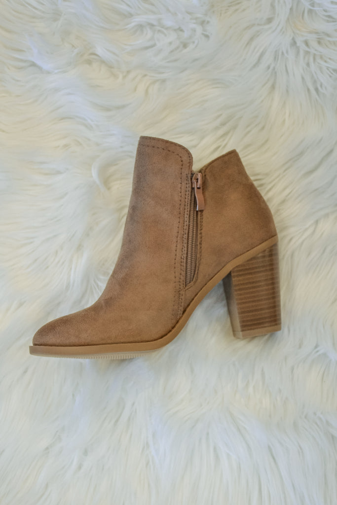 Fall Bootie - Dark Taupe