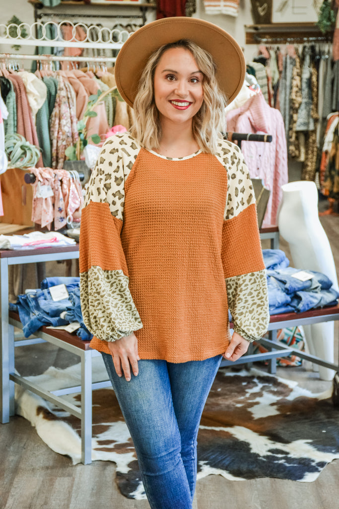 Leopard Block Top - Adorn Boutique in Mitchell