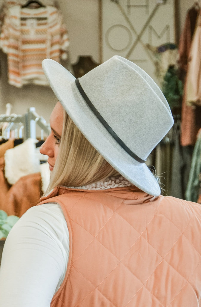 (More Colors) Black Belted Felt Hat - Adorn Boutique in Mitchell