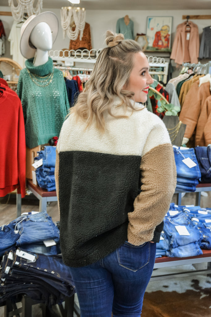 Sherpa Pullover - Adorn Boutique in Mitchell