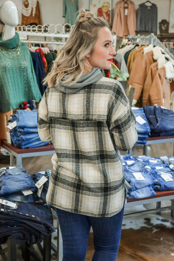 (More Colors) Plaid Contrast Pullover - Adorn Boutique in Mitchell