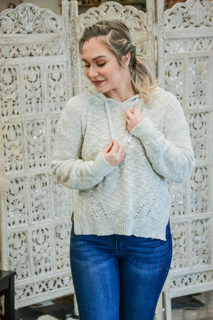 Light Blue pullover - Adorn Boutique in Mitchell
