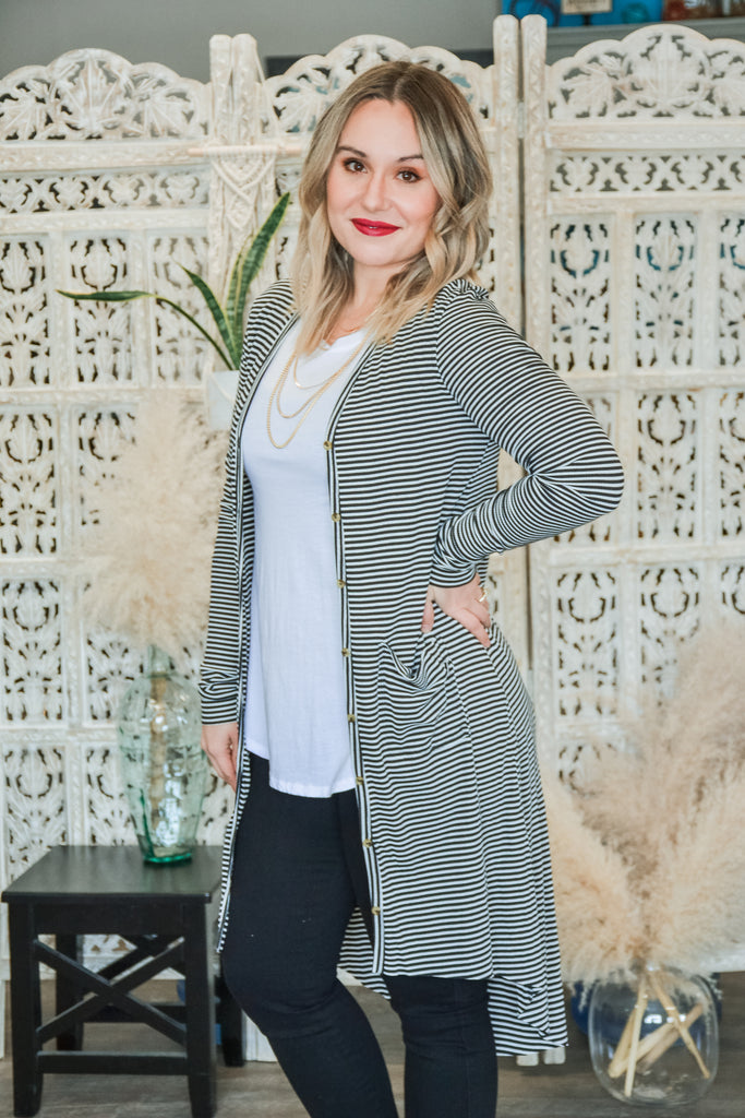 Ribbed Duster Cardigan - Adorn Boutique in Mitchell