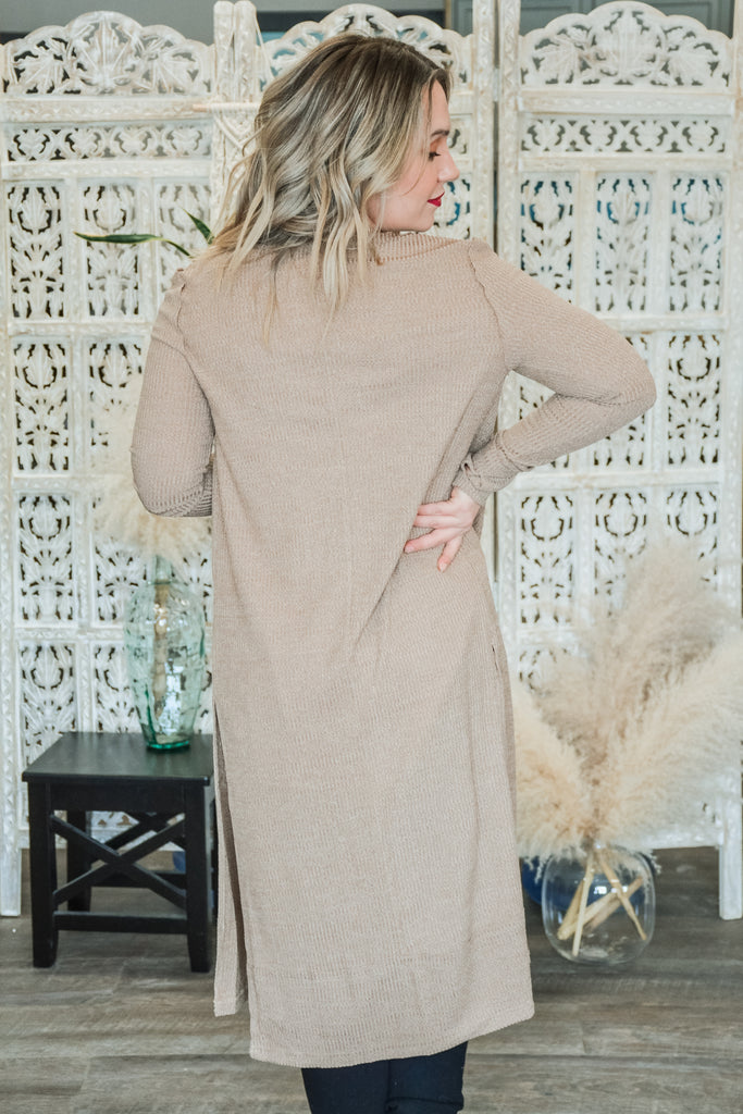 Distressed Cardigan Duster - Adorn Boutique in Mitchell