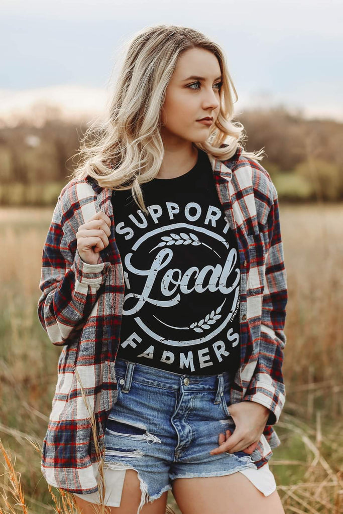(PLUS available) Local Farmers Sweatshirt - Adorn Boutique in Mitchell