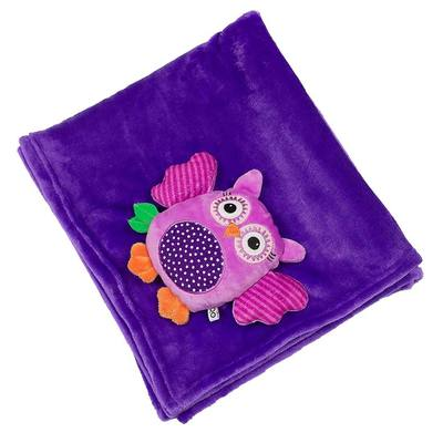Baby Stroller Buddy Blanket - Owl/Purple