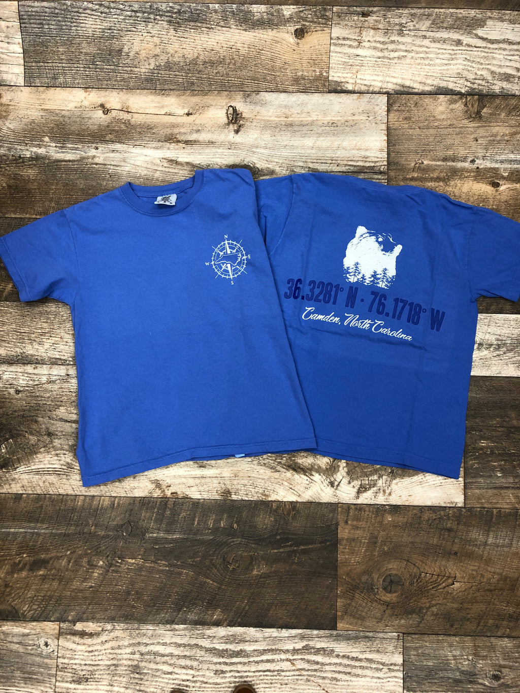 Camden NC Longitude & Latitude T Shirt - Youth