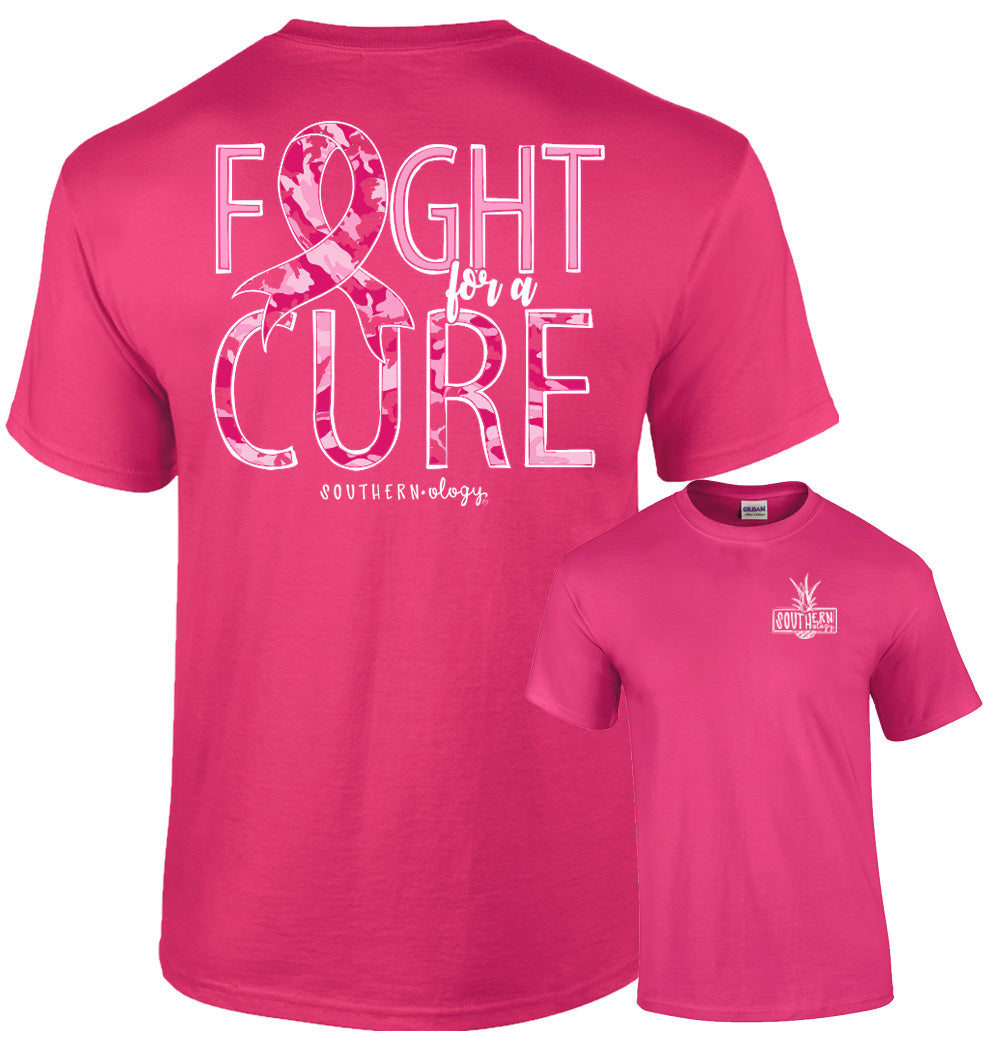 Southernology Fight For a Cure Camo T Shirt