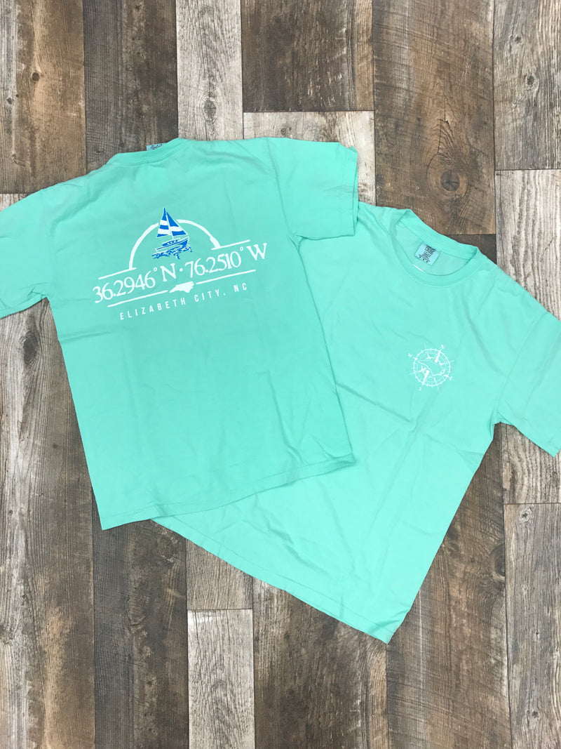 Elizabeth City Longitude & Latitude T Shirt
