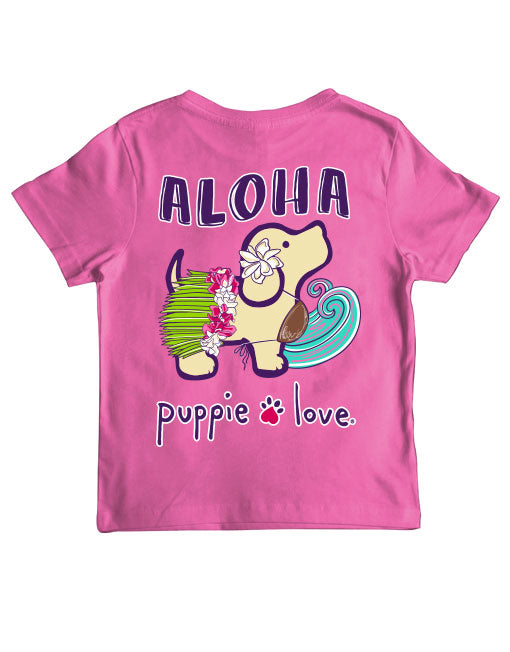 Youth Puppie Love Aloha Pup SS